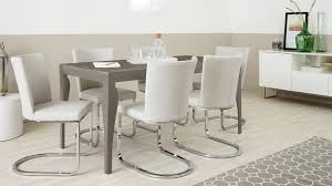 6 seater dining table and chairs 6 seater dining set cantilever chairs taupe grey gloss