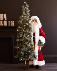 life size santa with shimmer tree balsam hill
