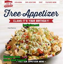 joes crab shack joe s crab shack birthday freebie hey it s free