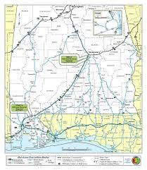 Interstate 10 Map Alabama Evacuation Routes Alabama Public Radio