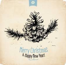 merry happy new year wallpaper vector free
