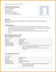 curriculum vitae for graduate application template 9 curriculum vitae sle for fresh graduate model resumed