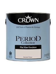 smoked oyster flat matt period collection crown paints