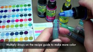 how to make brush tip markers with splash ink youtube