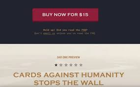 where can you buy cards against humanity cards against humanity buys land at mexican border to stop