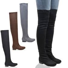 womens knee high boots australia womens thigh high faux suede stretch the knee