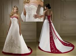 Red Wedding Dresses Sale Line Satin Red And White Wedding Dresses About Wedding Blog