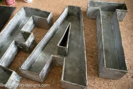 metal letters 3d faux metal letters tutorial from cardboard