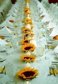 table centerpieces with sunflowers sunflower decor for wedding rehearsal dinner sunflowers shine in