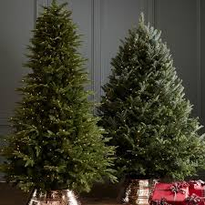 faux lighted flocked vermont spruce tree williams sonoma
