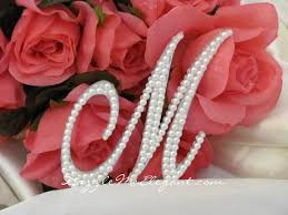 pearl monogram cake topper monogram cake toppers affordable wedding cake toppers
