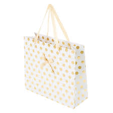 gold gift bags large gold polka dot gift bag s us