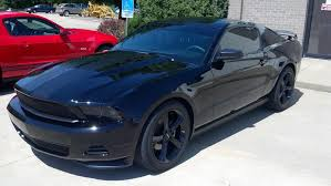Black Mustang With Stripes American Muscle Graphics Mustang Matte Black Lemans Stripes 8 In