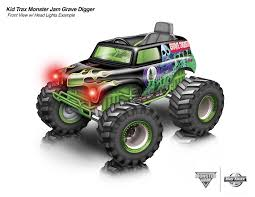 grave digger monster trucks kid trax monster jam gravedigger 12 volt ride on on behance