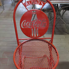 coca cola table and chairs folding coca cola metal chair collectors weekly
