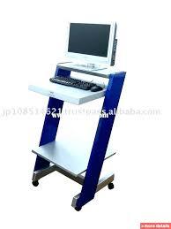 Movable Computer Desk Height Adjustable Mobile Computer Standing Desk Tag Creative
