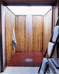 Teak Outdoor Shower Enclosure by Bamboo Outdoor Shower Bamboo Outdoor Showers Pinterest House