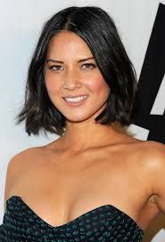 chin length hairstyles for ethnic hair olivia munn mid length hairstyle black bob for off the shoulder