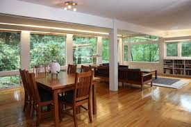 decor small open floor plan ideas with dining set and window
