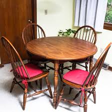 vintage dining table by walter of wabash with moosehead windsor
