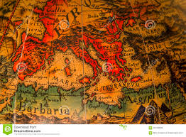 Adriatic Sea Map Ancient Map Of The Mediterranean Sea Stock Photo Image 65444890