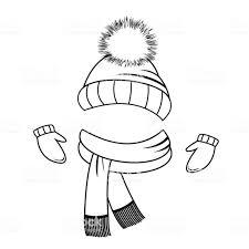 Collection De Vêtements Dhiver Bonnet écharpe Et Moufles Livre De