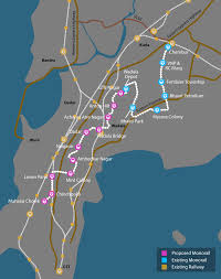 Mumbai Map Monorail Phase Ii Future Project In Mumbai Map View Hdfc Red