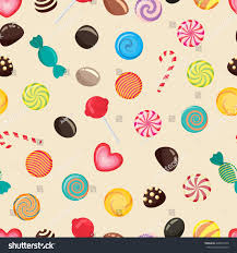 caramel wrapping papers sweet candy seamless pattern caramel lollipop stock vector