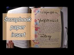 scrapbook inserts easy bible journaling scrapbook paper insert 7 words on the