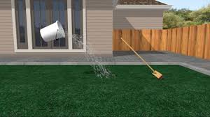 Astro Turf Backyard How To Install An Artificial Lawn With Pictures Wikihow