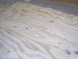 diy plywood floor part one cost u0026 install silver and pine