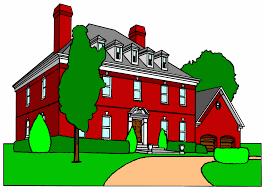 animated house clip art library