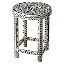 bone inlay side table bone inlay furniture accents one kings lane