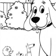 clifford coloring pages clifford the big red dog and friends coloring page download