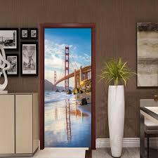 bricolage chambre diy américain golden gate bridge 3d stickers muraux bricolage