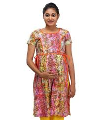 buy ziva maternity wear multi color cotton kurtis online at best