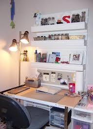Small Desk Area Small Space Organization Craft Desk Desks Shelving And