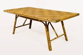 placed bamboo table on a dining room will give uniqueness