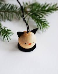make a set of wooden animal ornaments handmade
