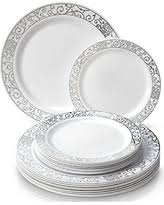silver wedding plates deals for plastic wedding plates