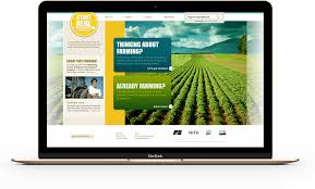 portfolio of elizabeth miller start2farm start2farm home page on a desktop