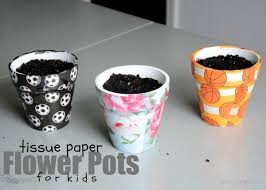 personalized flower pot she s crafty personalized tissue paper flower pots