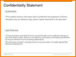 Non Disclosure Statement Template by 10 Confidentiality Statement Sle For Documents