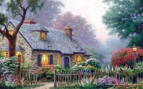 houses sweet home painting house wallpaper for desktop for hd 16