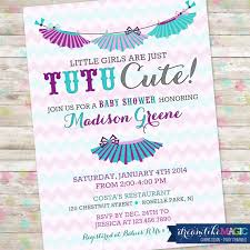 tutu themed baby shower tutu baby shower invitation baby girl invite tutu baby