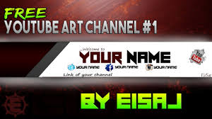 template youtube photoshop cc youtube channel art free photoshop cc cs6 banner template by eisaj