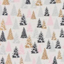 blush grey foil trees wrapping paper the container store