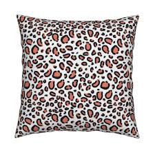 leopard print coral cheetah animal spots textile fabric print