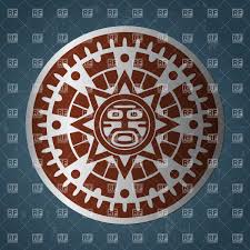 triipy clipart aztec sun pencil and in color triipy clipart aztec sun