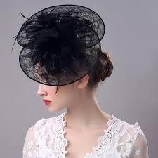 lace headwear hair clip feather lace headwear azbro